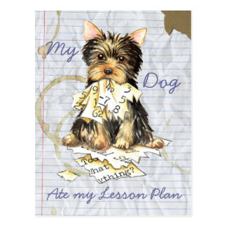 My Yorkie Ate My Lesson Plan Postcard