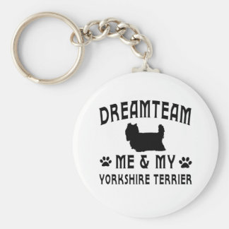 My Yorkshire Terrier Dog Basic Round Button Key Ring