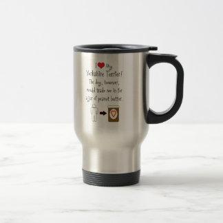 My Yorkshire Terrier Loves Peanut Butter 15 Oz Stainless Steel Travel Mug