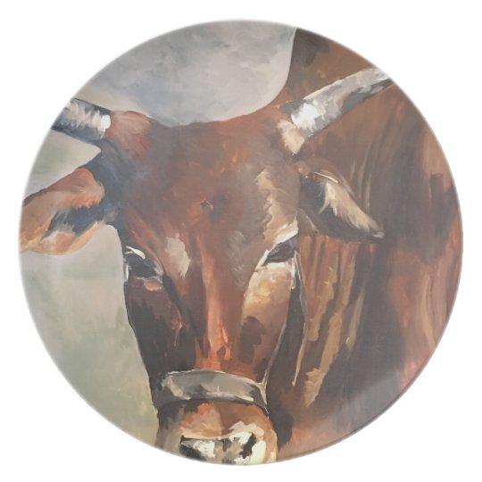 My Zebu Bull Plate
