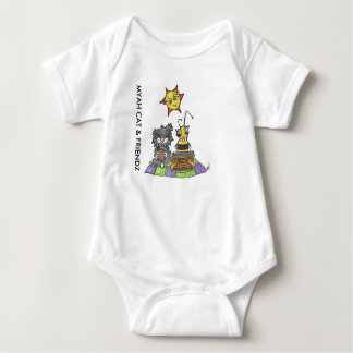 MYAH CAT & FRIENDZ Picnic Shortie Baby Bodysuit