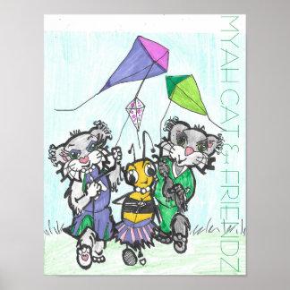 MYAH CAT & FRIENDZ Poster