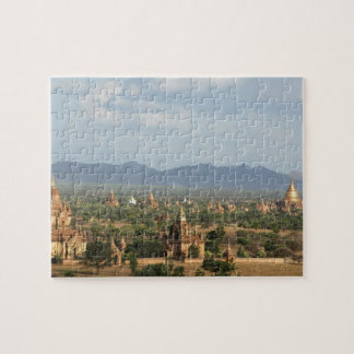 Myanmar, Bagan, Temple packed plain of Bagan and Jigsaw Puzzle
