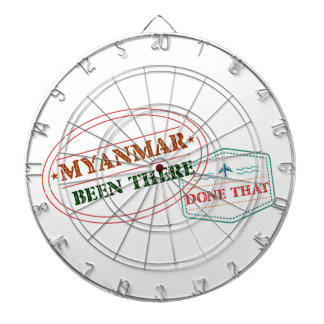 Myanmar Been There Done That Dartboard