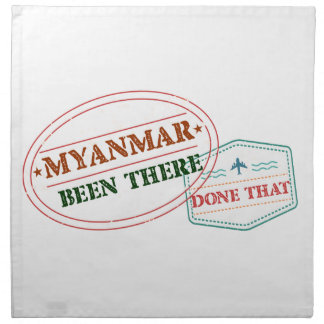 Myanmar Been There Done That Napkin