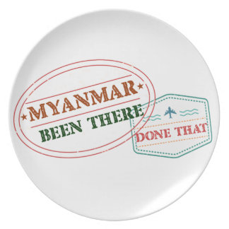 Myanmar Been There Done That Plate