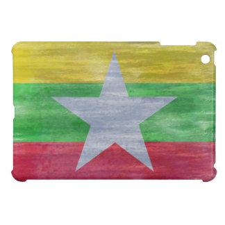 Myanmar distressed flag iPad mini cases
