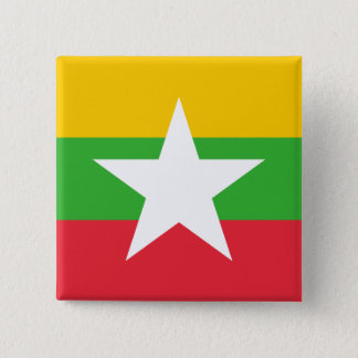 Myanmar Flag 15 Cm Square Badge