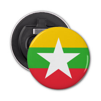 Myanmar Flag Bottle Opener