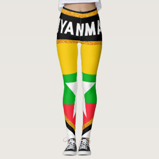 Myanmar Flag Leggings