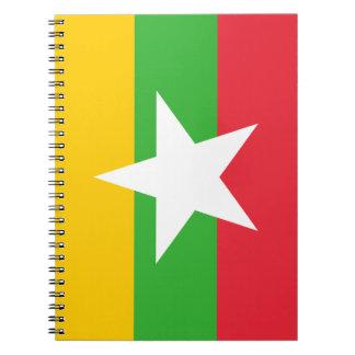 Myanmar Flag Notebook