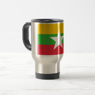 Myanmar Flag Travel Mug