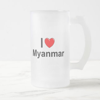 Myanmar Frosted Glass Beer Mug