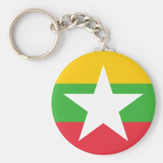 Myanmar National World Flag Key Ring