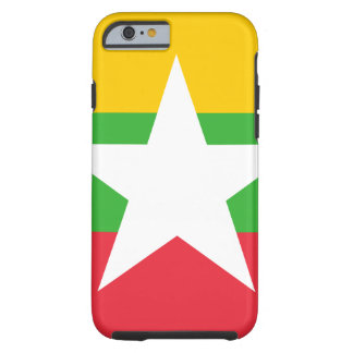 Myanmar National World Flag Tough iPhone 6 Case