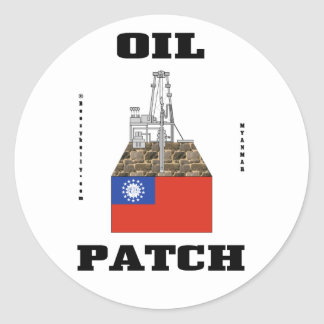 Myanmar Oil Patch,Decal,Oil Field Gift,Oil,Gas,Rig Round Sticker