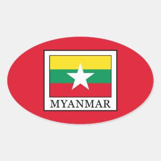 Myanmar Oval Sticker