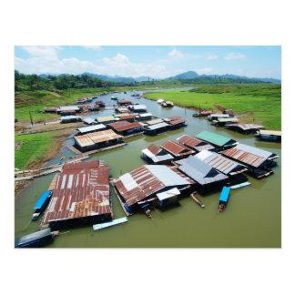 Myanmar Raft Postcard