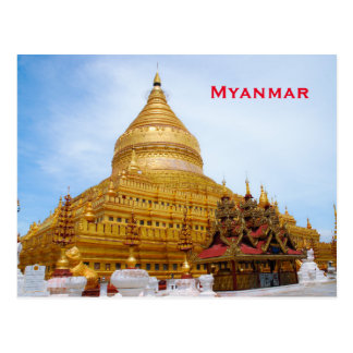 Myanmar Vintage Travel Tourism Add Postcard