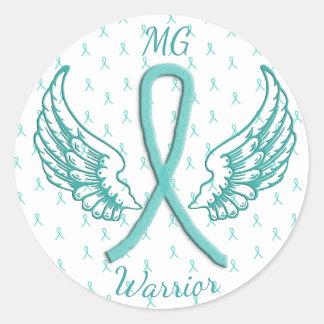 Myasthenia Gravis Angel Wings Warrior Sticker