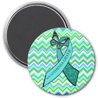 Myasthenia Gravis Awareness Butterfly Magnet