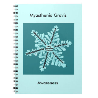 Myasthenia Gravis Awareness Teal Logo Notebook