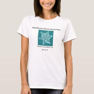 Myasthenia Gravis Awareness with Sysmptoms on Back T-Shirt