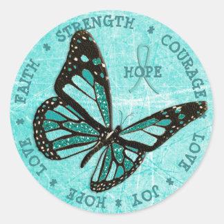 Myasthenia Gravis Hope  Strength Butterfly Sticker