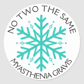 Myasthenia Gravis No 2 the Same Snowflake sticker