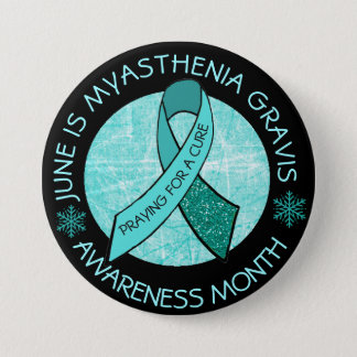 Myasthenia Gravis Praying for a Cure 7.5 Cm Round Badge