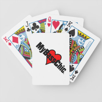 MyBassChic(tm) Crimson Heart Bicycle Playing Cards