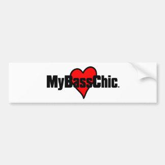 MyBassChic(tm) Crimson Heart Bumper Sticker