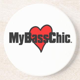 MyBassChic(tm) Crimson Heart Coaster