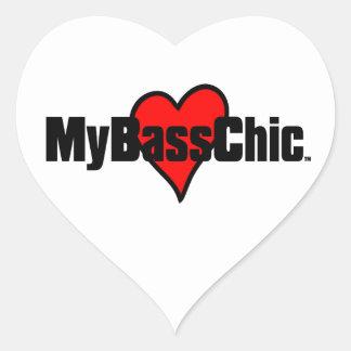 MyBassChic(tm) Crimson Heart Heart Sticker