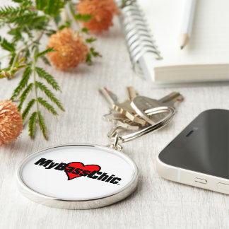 MyBassChic(tm) Crimson Heart Key Ring