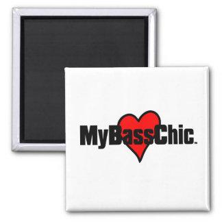 MyBassChic(tm) Crimson Heart Magnet