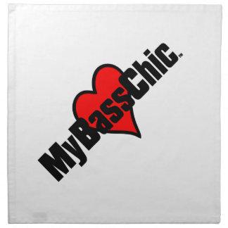 MyBassChic(tm) Crimson Heart Napkin
