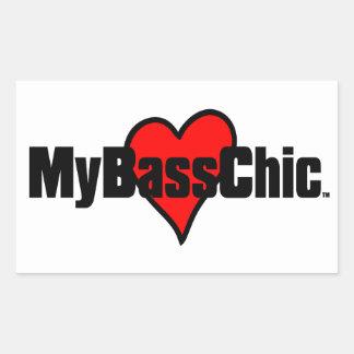 MyBassChic(tm) Crimson Heart Rectangular Sticker