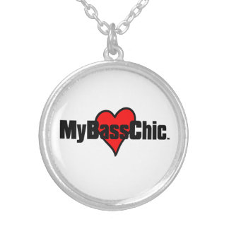 MyBassChic(tm) Crimson Heart Silver Plated Necklace