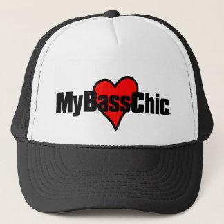 MyBassChic(tm) Crimson Heart Trucker Hat
