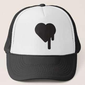 myblackheart heart trucker hat