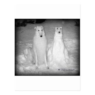 Mychtar and His Snowdog ! :) Postcards