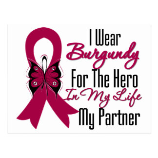 Myeloma Ribbon Hero My Partner Postcard