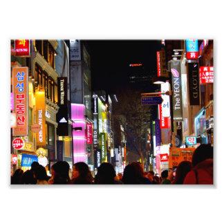 Myeongdong at Night Photo Print