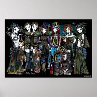 Myka Jelina Gothic Steampunk Tribal Circus Fairies Poster
