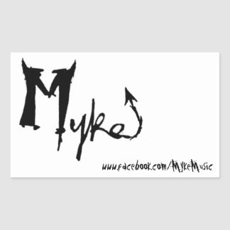 Myke Name Rectangle Sticker