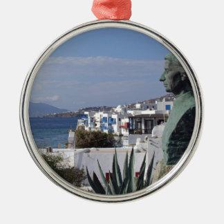 Mykonos 2 Silver-Colored round decoration