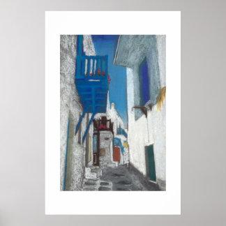 Mykonos Balcony Poster