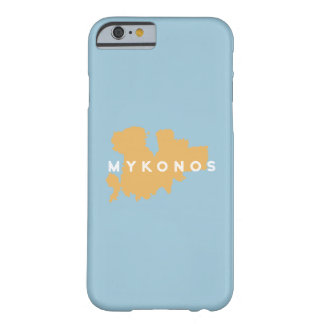 Mykonos Greece Island Silhouette Barely There iPhone 6 Case