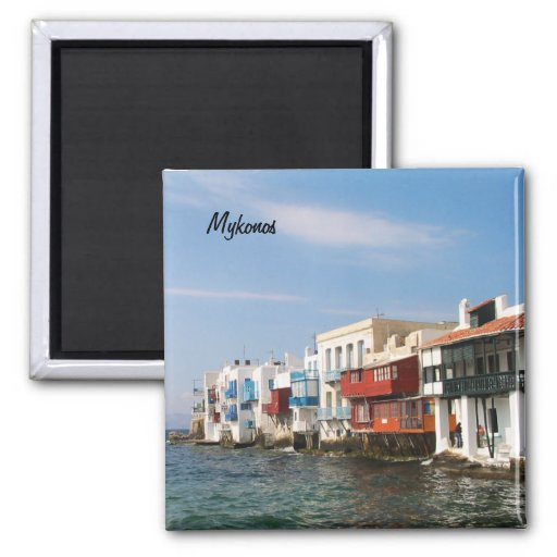 Mykonos Little Venice Fridge Magnet